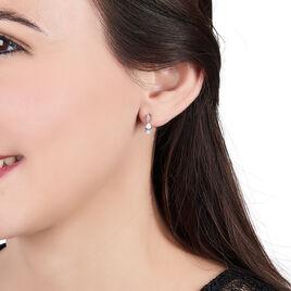 Boucles D'oreilles Pendantes Marie-helena Argent Oxyde De Zirconium - Boucles d'oreilles fantaisie Femme | Histoire d'Or