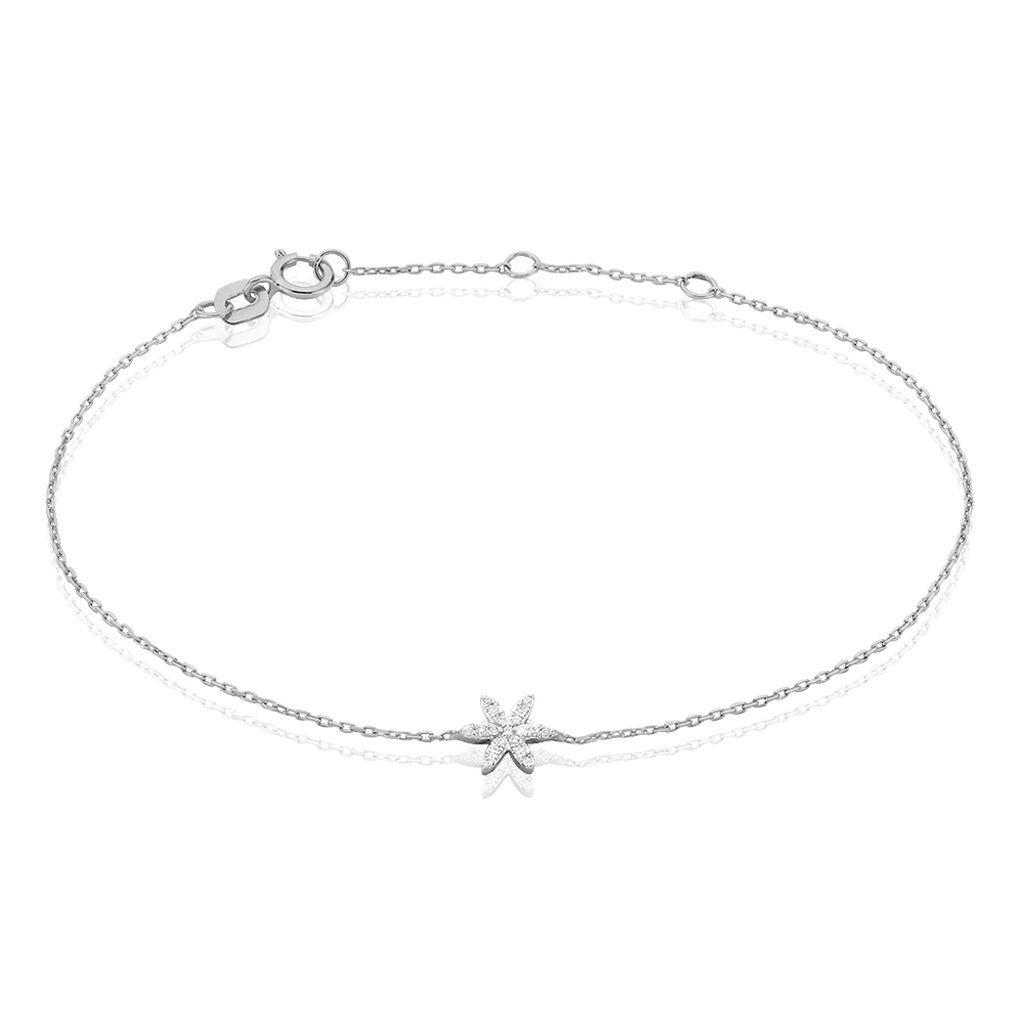 Bracelet Aissam Or Blanc Diamant - Bijoux Femme | Histoire d'Or