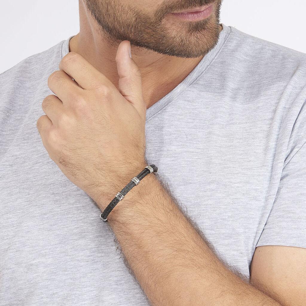 Bracelet Thomas Acier Blanc - Bracelets fantaisie Homme | Histoire d'Or