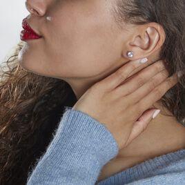 Boucles D'oreilles Pendantes Abha Argent Blanc Oxyde De Zirconium - Boucles d'oreilles fantaisie Femme | Histoire d'Or