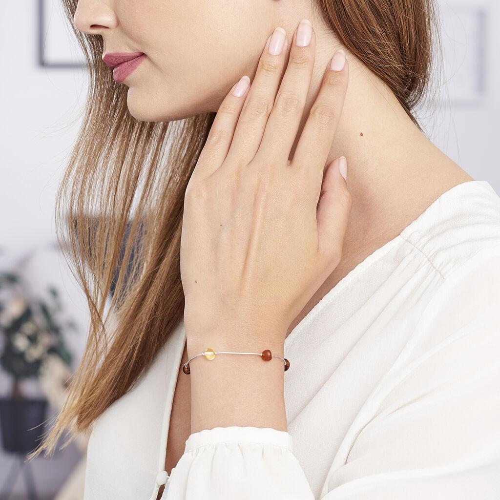 Bracelet Siaae Argent Blanc Ambre - Bracelets fantaisie Femme | Histoire d'Or