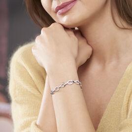 Bracelet Jonc Tehei Argent Blanc Oxyde De Zirconium - Bijoux Femme | Histoire d'Or