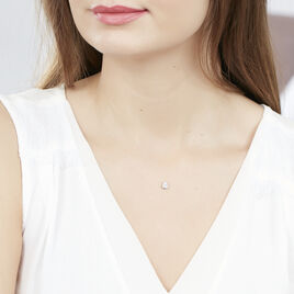 Collier Argent Rhodie Fil De Nylon Oxyde - Colliers fantaisie Femme | Histoire d'Or