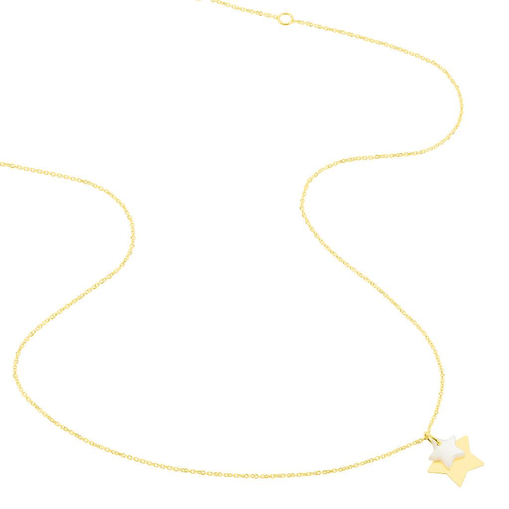Collier Cleomelia Etoile Or Jaune - Colliers Etoile Enfant   Histoire d'Or