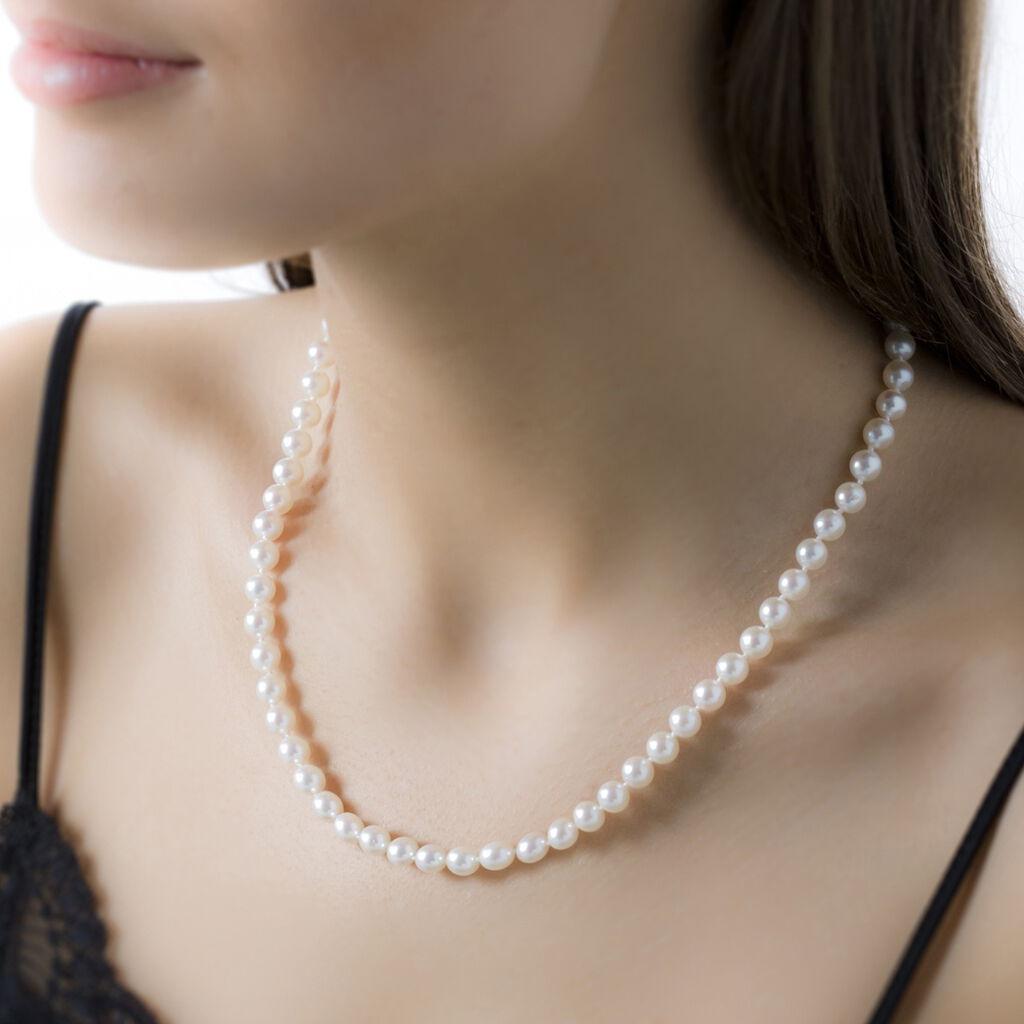 Collier Aicha Or Jaune Perle De Culture D'akoya - Bijoux Femme | Histoire d'Or