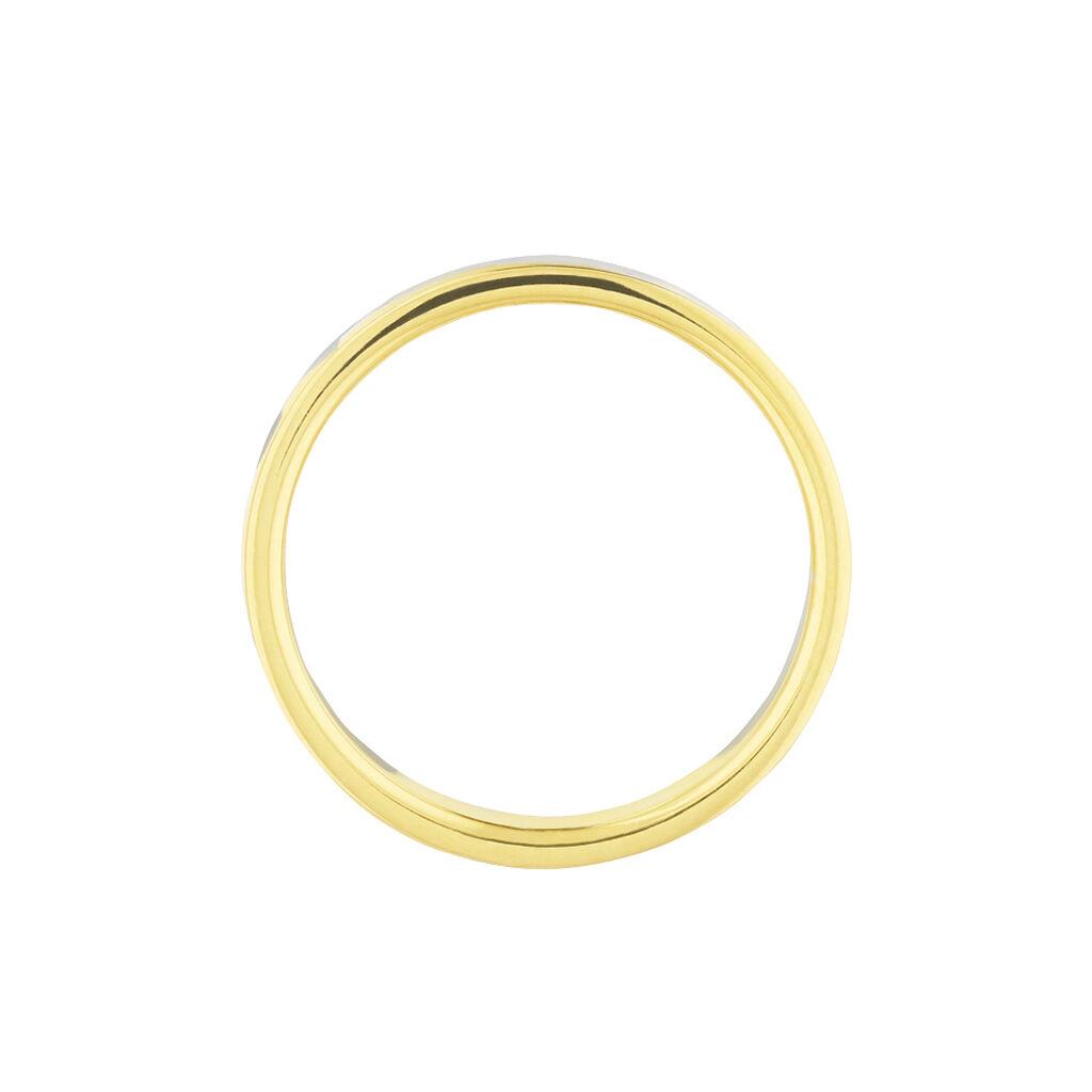 Alliance Ilki Ruban Or Bicolore - Alliances Unisexe   Histoire d'Or