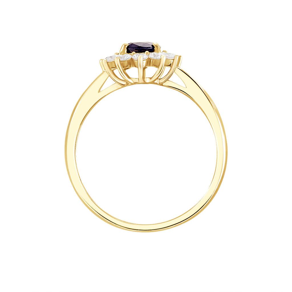 Bague Vladimir Or Jaune Saphir Et Diamant - Bagues solitaires Femme | Histoire d'Or