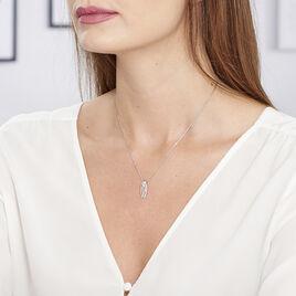 Collier Solyne Argent Blanc Oxyde De Zirconium - Colliers fantaisie Femme   Histoire d'Or