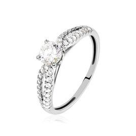 Bague Solitaire Stockholma Platine Blanc Diamant - Bagues avec pierre Femme   Histoire d'Or
