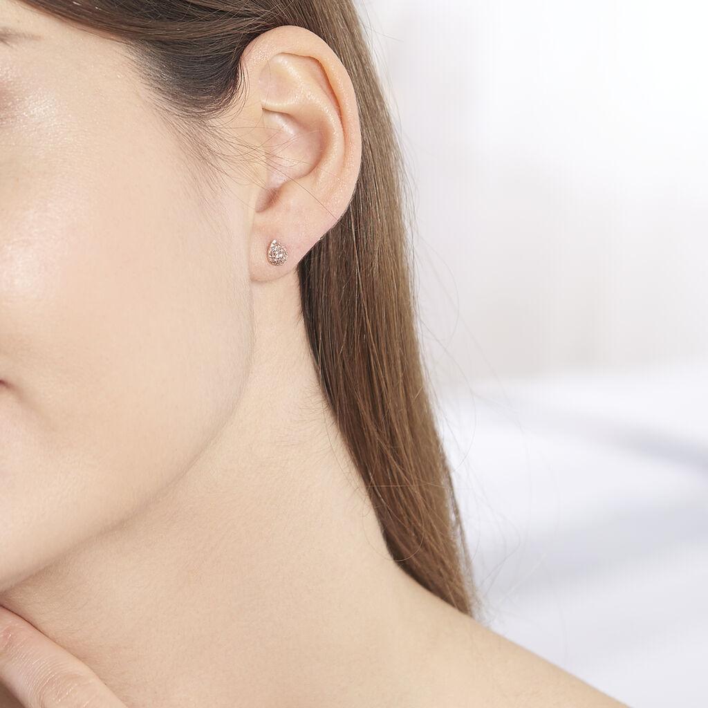 Boucles D'oreilles Puces Anitta Or Rose - Clous d'oreilles Femme | Histoire d'Or