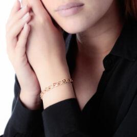 Bracelet Joice Maille Alternee Lisse Et Godronne Or Jaune - Bijoux Femme   Histoire d'Or