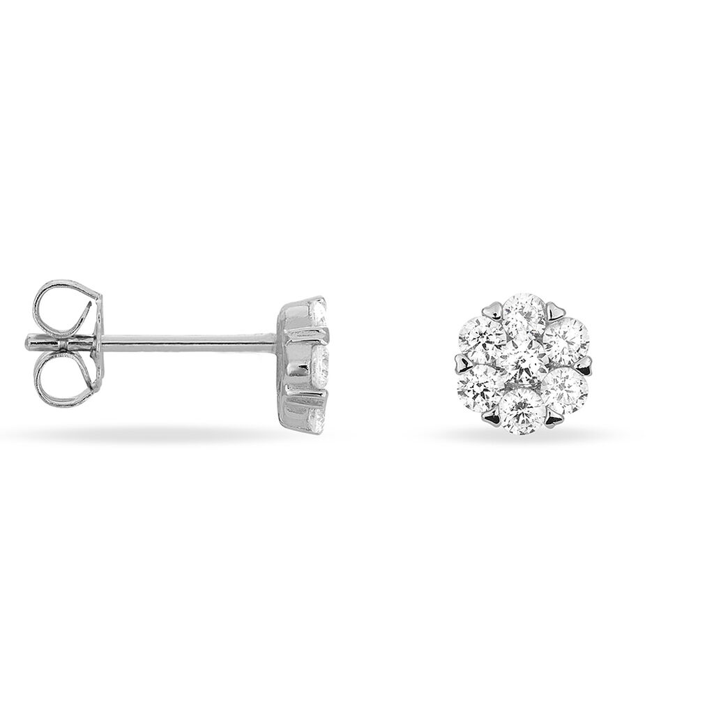 Boucles D'oreilles Pendantes Pietra Argent Blanc Oxyde De Zirconium - Boucles d'oreilles fantaisie Femme | Histoire d'Or