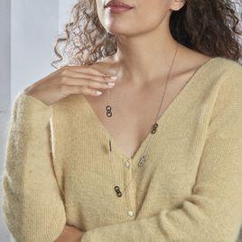 Collier Sautoir Waina Acier Blanc - Colliers Infini Femme   Histoire d'Or