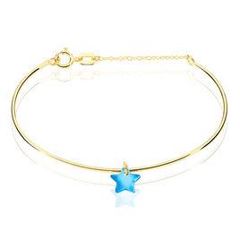 Bracelet Jonc Ida Etoile Or Jaune - Bracelets Naissance Enfant   Histoire d'Or