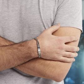 Bracelet Hugo Acier Blanc - Bracelets fantaisie Homme   Histoire d'Or