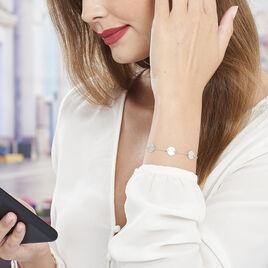 Bracelet Almira Argent Blanc - Bracelets fantaisie Femme   Histoire d'Or