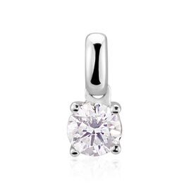Pendentif Or Blanc Victoria Diamant - Pendentifs Femme   Histoire d'Or