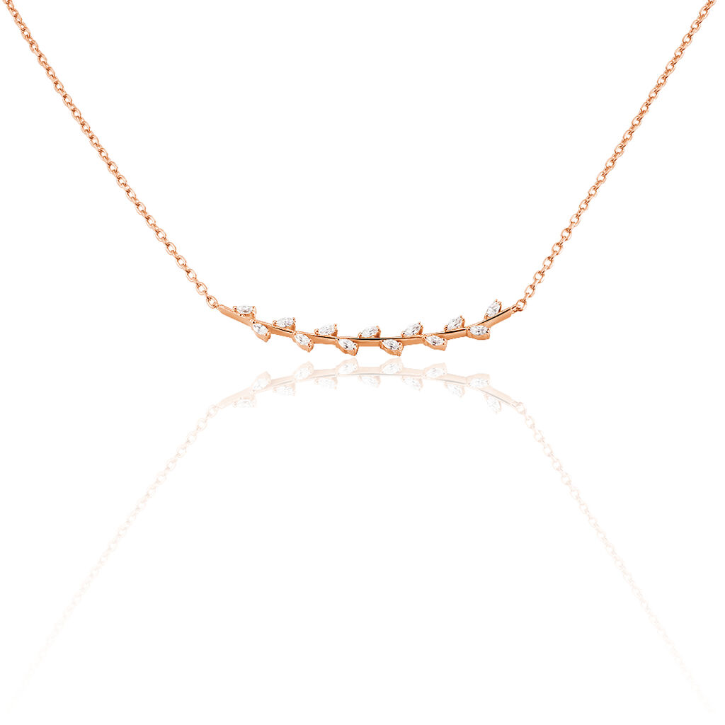 Collier Watila Argent Rose Oxyde De Zirconium - Colliers Plume Femme | Histoire d'Or