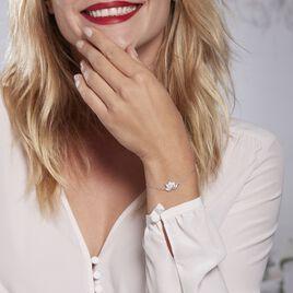 Bracelet Argent Rhodié Cassien Oxyde - Bracelets fantaisie Femme   Histoire d'Or