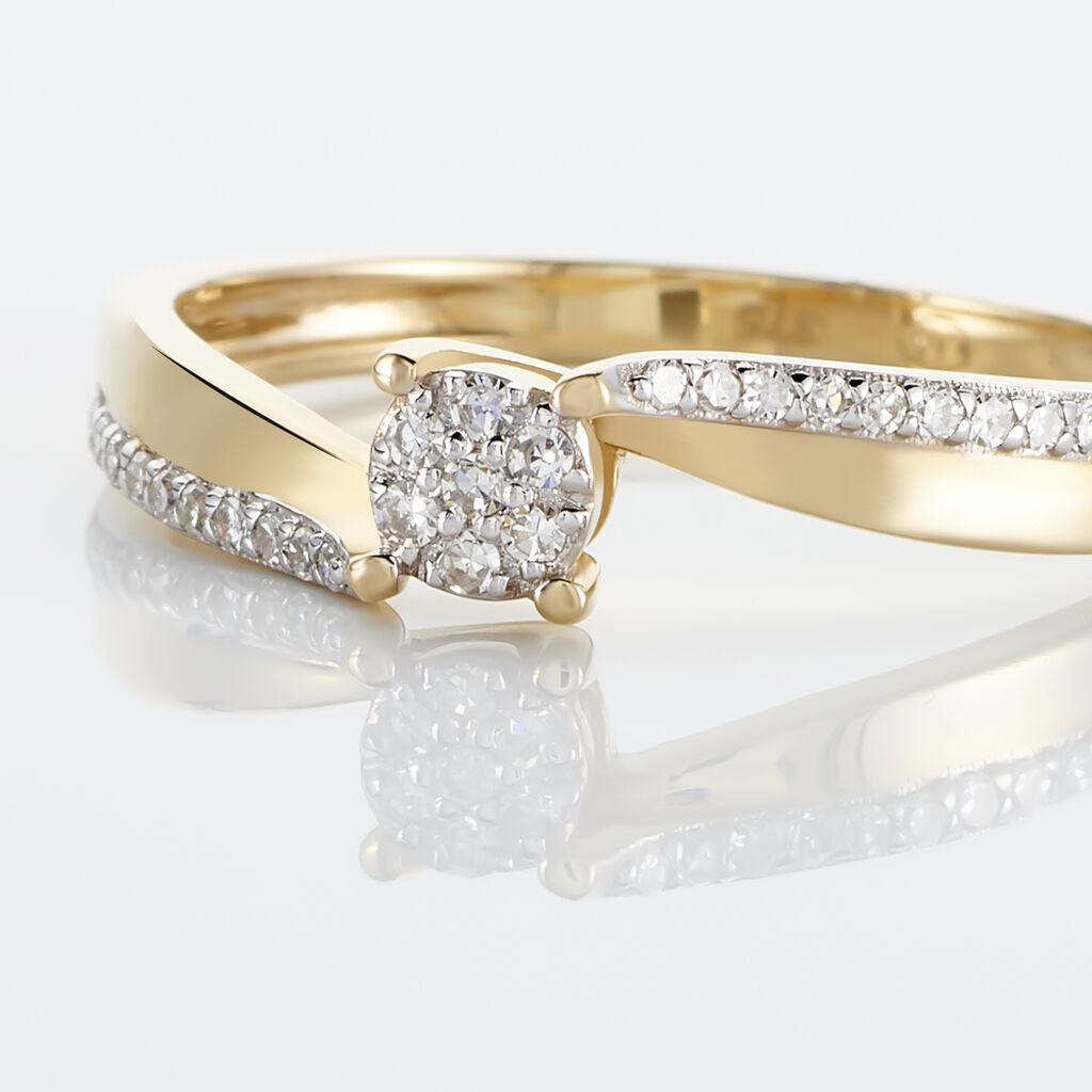 Bague Callysta Or Jaune Diamant - Bagues avec pierre Femme   Histoire d'Or