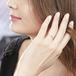 Bague Solitaire Laetitia Or Blanc Diamant - Bagues solitaires Femme | Histoire d'Or