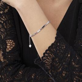 Bracelet Celina Argent Blanc Oxyde De Zirconium - Gourmettes Femme | Histoire d'Or