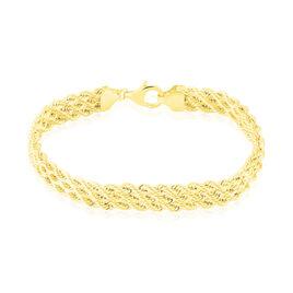 Bracelet Jerry Maille Corde 3 Rangs Or Jaune - Bracelets chaîne Femme   Histoire d'Or