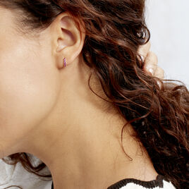 Créoles Andgelina Rondes Or Jaune Oxyde De Zirconium - Boucles d'oreilles créoles Femme | Histoire d'Or