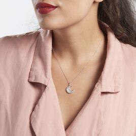 Collier Argent Rhodié Segeta Oxydes De Zirconium - Colliers Lune Femme | Histoire d'Or