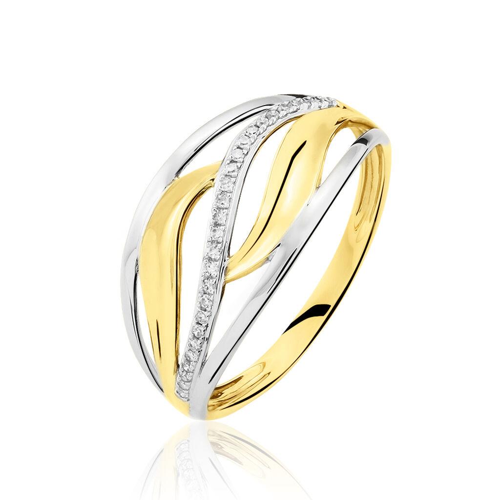 Bague Volcania Or Bicolore Diamant - Bagues avec pierre Femme | Histoire d'Or