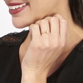 Bague Sandrine Or Jaune Diamant - Bagues avec pierre Femme   Histoire d'Or