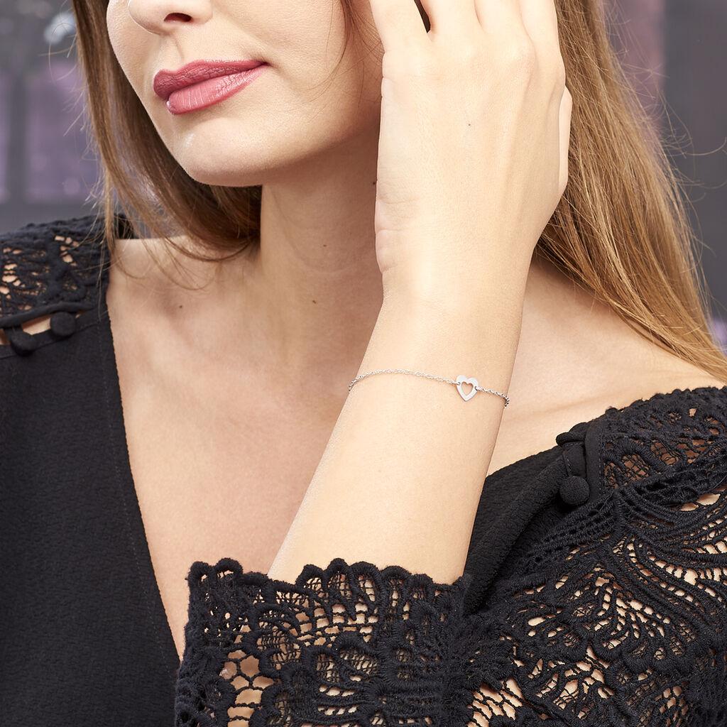 Bracelet Dafne Argent Blanc - Bracelets fantaisie Femme | Histoire d'Or