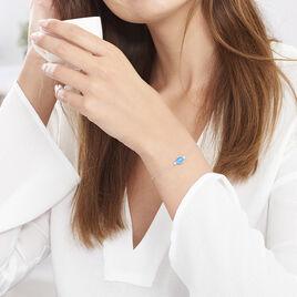Bracelet Corelana Argent Blanc Pierre De Synthese - Bracelets fantaisie Femme   Histoire d'Or