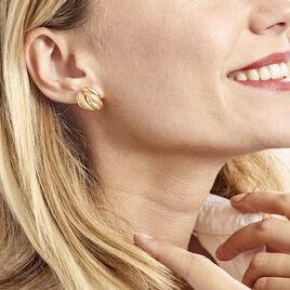Boucles D'oreilles Pendantes Garda Or Jaune - Boucles d'Oreilles Plume Femme   Histoire d'Or