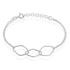 Bracelet Belinda Argent Blanc - Bracelets fantaisie Femme   Histoire d'Or
