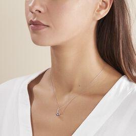 Collier Anais Or Blanc Perle De Culture Et Oxyde De Zirconium - Bijoux Femme | Histoire d'Or