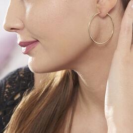 Créoles Valencina Flexibles Or Jaune - Boucles d'oreilles créoles Femme | Histoire d'Or