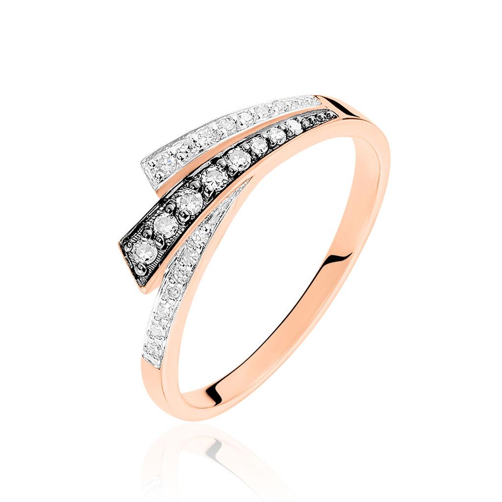 Bague Maelys Or Rose Diamant - Bagues avec pierre Femme | Histoire d'Or