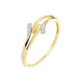 Bague Nelle Or Blanc Diamant - Bagues avec pierre Femme | Histoire d'Or