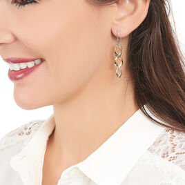 Boucles D'oreilles Pendantes Merone Vagues Or Jaune - Boucles d'oreilles pendantes Femme   Histoire d'Or