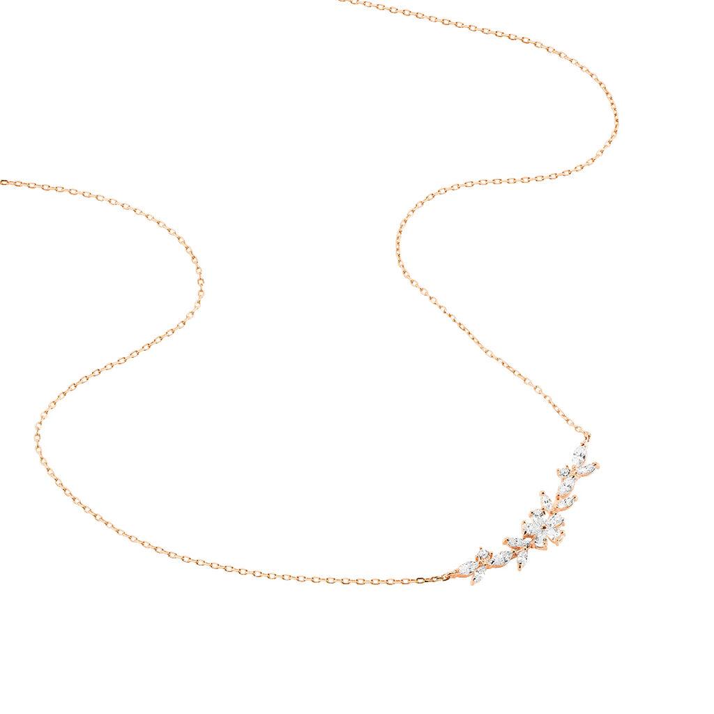Collier Wanda Argent Rose Oxyde De Zirconium - Colliers Plume Femme | Histoire d'Or