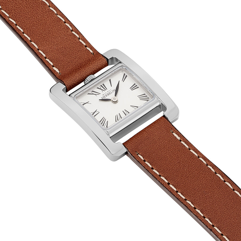 Montre Michel Herbelin 5em Avenue Blanc