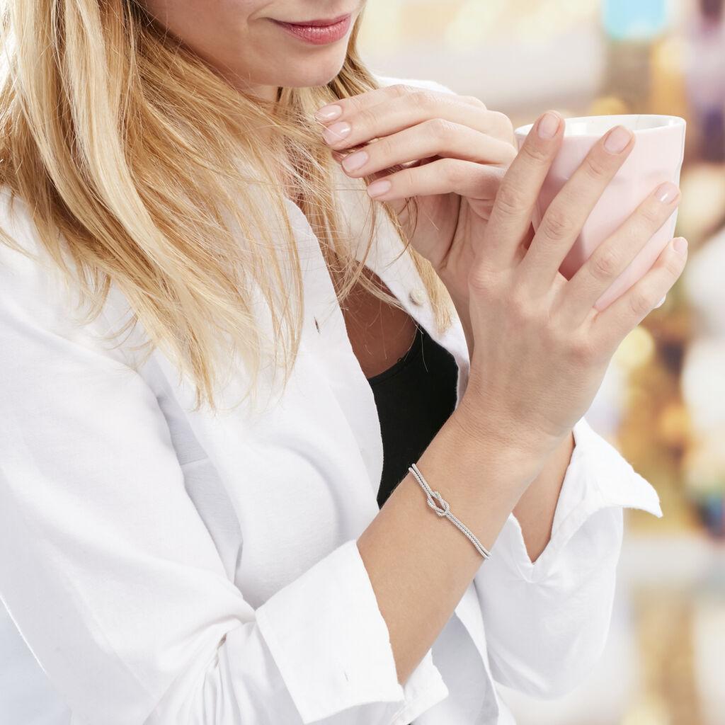 Bracelet Firouz Argent Blanc - Bracelets fantaisie Femme   Histoire d'Or