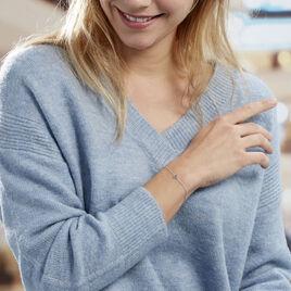Bracelet Anna Argent Blanc Oxyde De Zirconium - Bracelets fantaisie Femme | Histoire d'Or