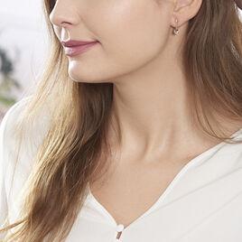 Boucles D'oreilles Pendantes Tinna Or Rose Morganite Et Diamant - Boucles d'oreilles pendantes Femme | Histoire d'Or
