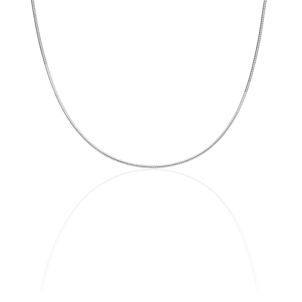 Chaîne Kassie Maille Omega Argent Blanc - Chaines Femme | Histoire d'Or