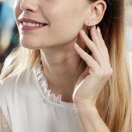Créoles Valerina Ciselees Or Blanc - Boucles d'oreilles créoles Femme   Histoire d'Or