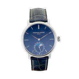 Montre Frederique Constant Slimline Moonphase Manufacture Bleu - Montres Homme   Histoire d'Or