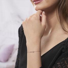 Bracelet Argent Rhodie Ancre Marine Perle D'imitation - Bijoux Ancre Femme | Histoire d'Or