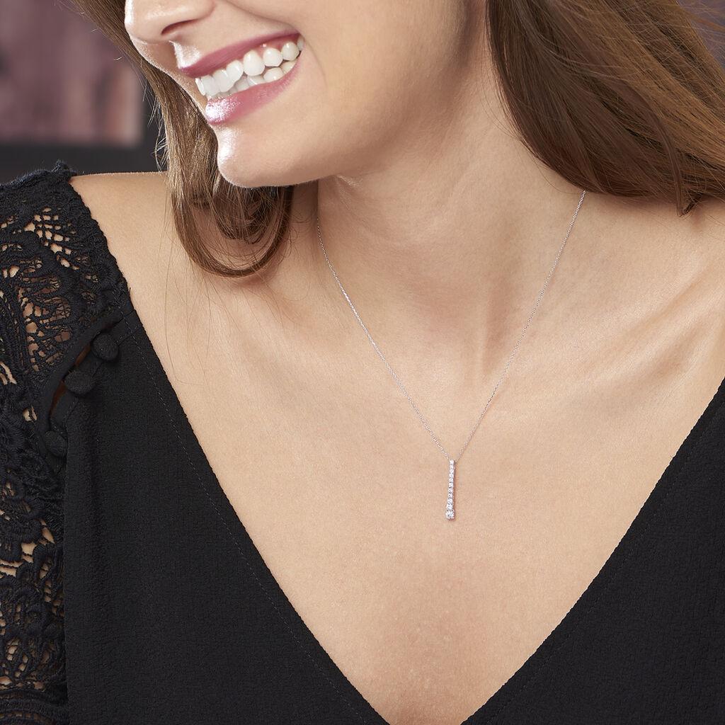 Collier Riviera Or Blanc Diamant - Bijoux Femme | Histoire d'Or